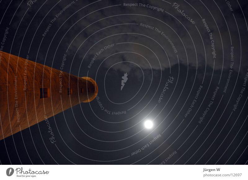 Mondschein Himmel Wolken Europa Mond Spanien Leuchtturm Gran Canaria Maspalomas