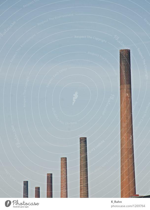 ex raucher Industrie Technik & Technologie Umwelt Himmel Fabrik Stein Erfolg historisch Kraft Sicherheit Energie Klima Reichtum Farbfoto Außenaufnahme