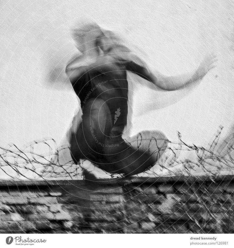 Kapri OLÉ Mensch Mann Erwachsene Leben Wand Bewegung springen Mauer Stimmung Kraft Tanzen Kraft Bewegungsunschärfe Leidenschaft Veranstaltung Dynamik