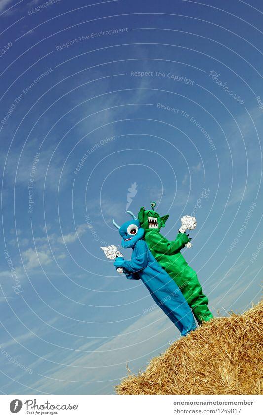 00Watt? blau grün Freude Spielen Kunst Lifestyle Design Freizeit & Hobby elegant ästhetisch Rücken Weltall Jagd exotisch Konkurrenz Kunstwerk