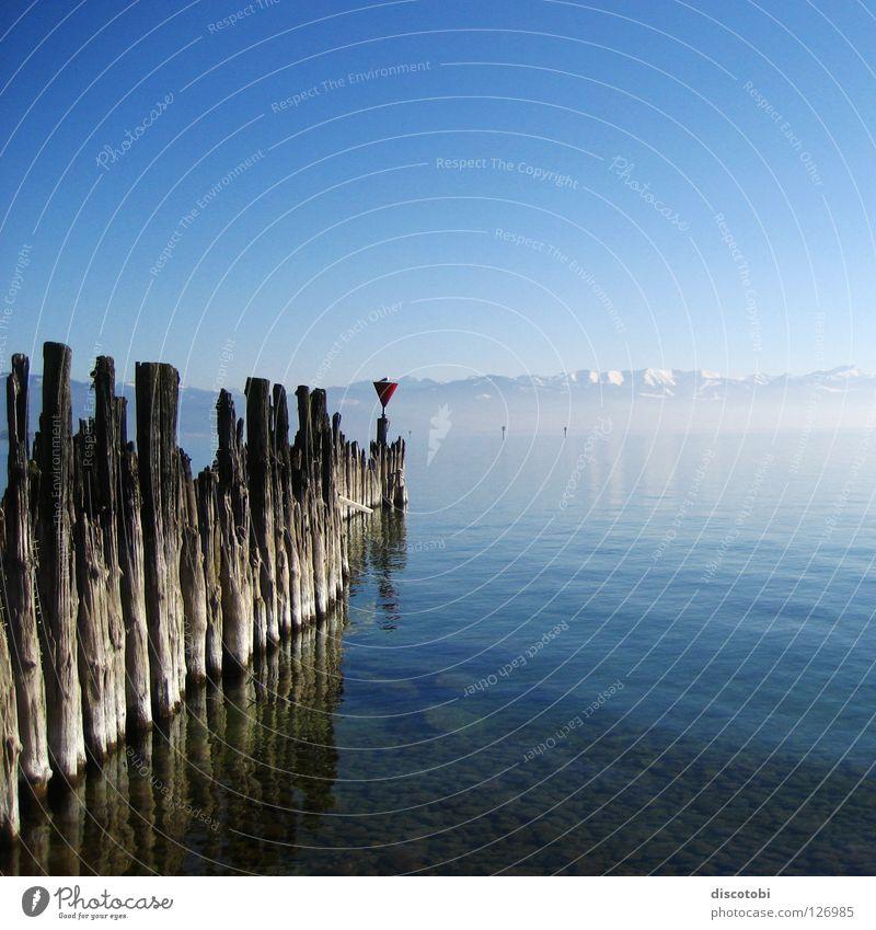 frische luft Himmel blau Ferien & Urlaub & Reisen Wasser schön Sonne Winter Landschaft Erholung Berge u. Gebirge kalt Freiheit See Luft träumen Vogel