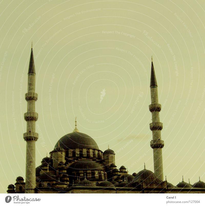 Minarett Moschee Gebet Allah Götter Glaube Ferien & Urlaub & Reisen Kunst Istanbul Türkei Religion & Glaube Teppich Kuppeldach Gotteshäuser Moslem Tradition