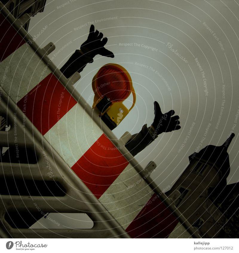 # 5 lebt Mensch Himmel Hand Freude Gesicht schwarz gelb Wege & Pfade Lampe Kunst Arme Schilder & Markierungen Erfolg Suche Streifen Hinweisschild