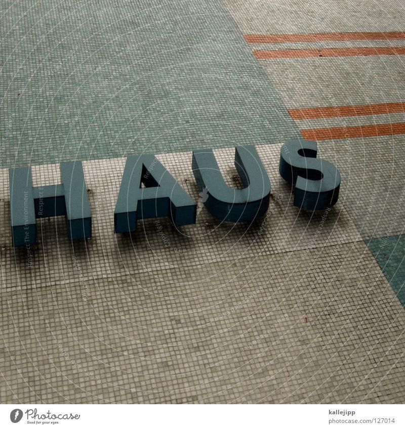 freuden- Haus Unterkunft Einfamilienhaus Bordell Haushalt Traumhaus Villa Elendsviertel Typographie Beschriftung Buchstaben Wort dreidimensional