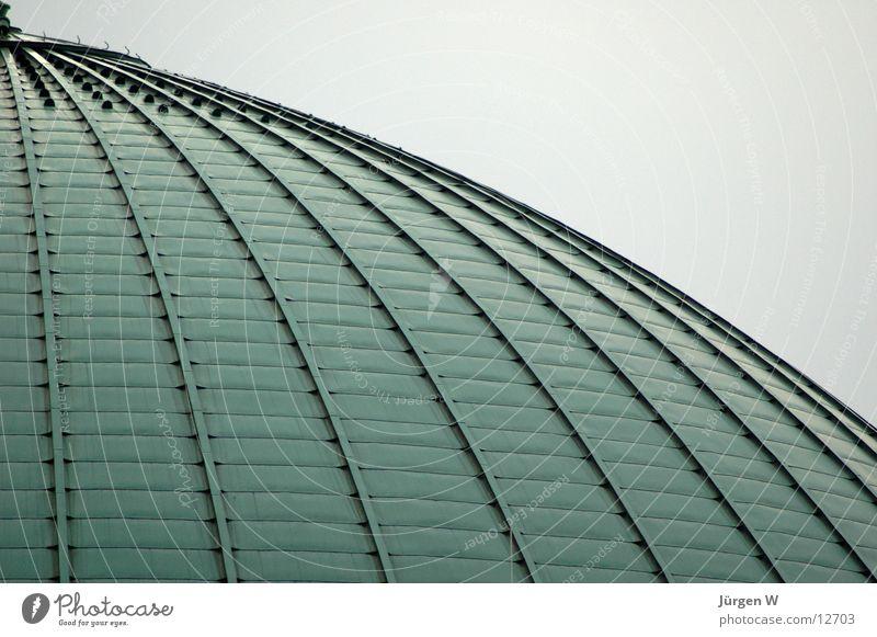 Tonhalle grün Architektur rund Dach Düsseldorf Bogen kupfer
