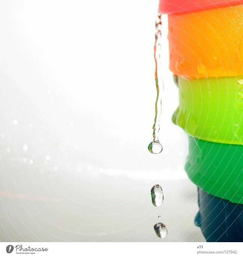 RainbowWater Farbe Wasser kalt Wassertropfen nass Reinigen Tropfen Bad Klarheit rein Erfrischung Durst Regenbogen Geschirrspülen tropfend Wasserstrahl