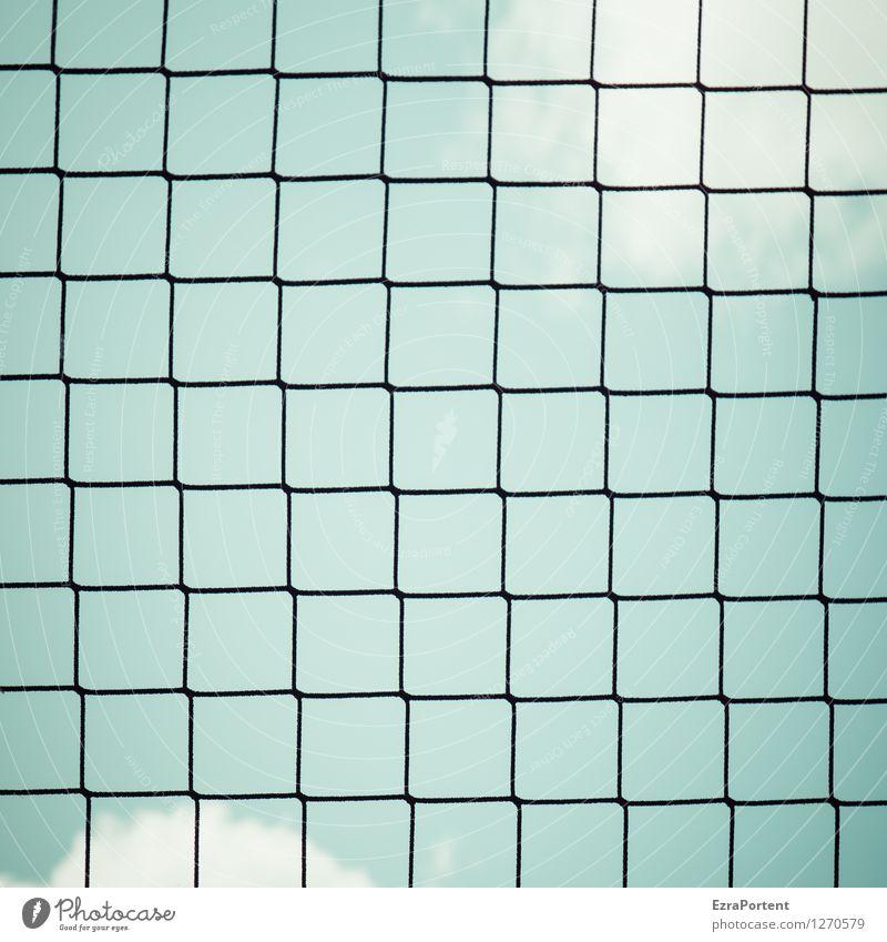 Netz Himmel Natur blau weiß Wolken schwarz Sport Linie Design Freizeit & Hobby ästhetisch Grafik u. Illustration Sicherheit Netzwerk Netz graphisch
