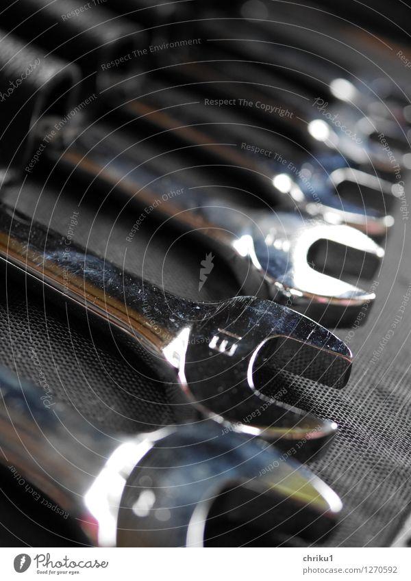 """Work 13 Handwerker Werkzeug Werkzeugkasten Arbeit & Erwerbstätigkeit schwarz silber """"Ring-Maul-Schlüssel Ringschlüssel Werkzeugkoffer schrauben basteln 13er"""