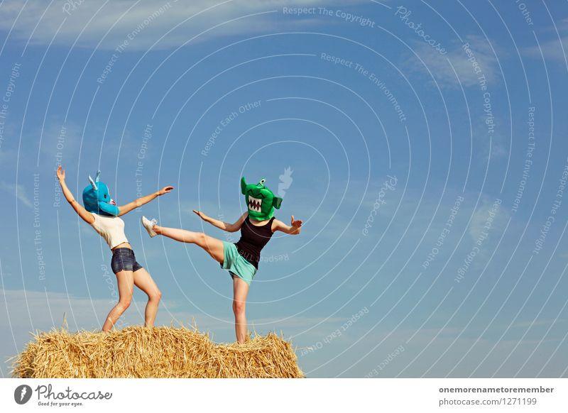 hit me Freude Kunst ästhetisch Lebewesen Gemälde Maske Gewalt Kunstwerk Karnevalskostüm Kampfsport spaßig schlagen Spaßvogel kampfstark ungeheuerlich Ungeheuer