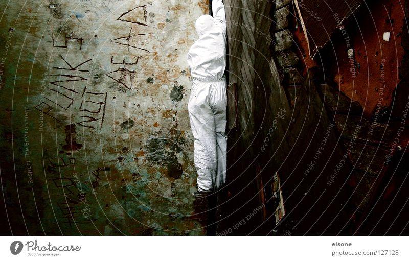 ::ROOM DIVIDER:: Mensch alt weiß Einsamkeit Lampe träumen Raum Angst dreckig kaputt verfallen hängen Panik Zerstörung