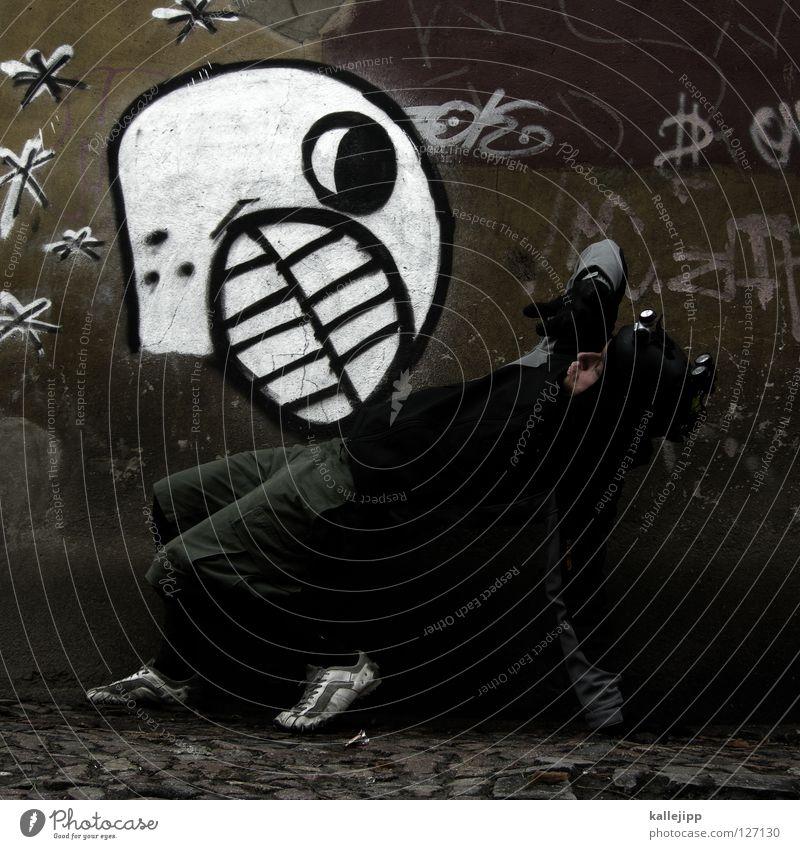 ghost buster Haus Ernährung Straße Graffiti Wand Bewegung Kunst Zufriedenheit Angst fliegen Brand Schriftzeichen Lifestyle Zeichen geheimnisvoll Gebiss