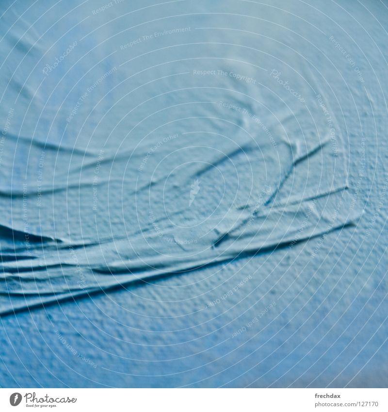 Ocean of Paper II blau Farbe Meer Kunst Wellen Kultur Niveau Gemälde Stoff Bild Quadrat zyan Wellengang Schichtarbeit Projektionsleinwand Steigung