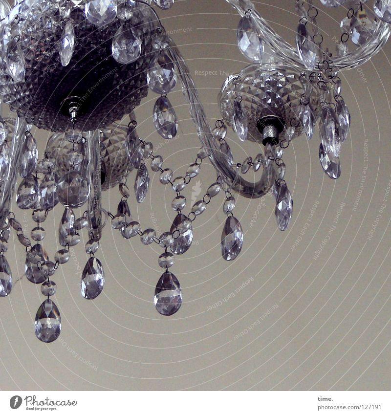 Flunkerklunker Lampe grau Raum Beleuchtung Kunst glänzend Glas rund Tropfen Dekoration & Verzierung Vergänglichkeit Kugel Reichtum Schmuck Handwerk durchsichtig
