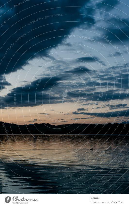 Ein Tag beginnt Ferien & Urlaub & Reisen Ausflug Sommerurlaub Umwelt Natur Landschaft Wasser Himmel Wolken Sonnenaufgang Sonnenuntergang Schönes Wetter Wellen