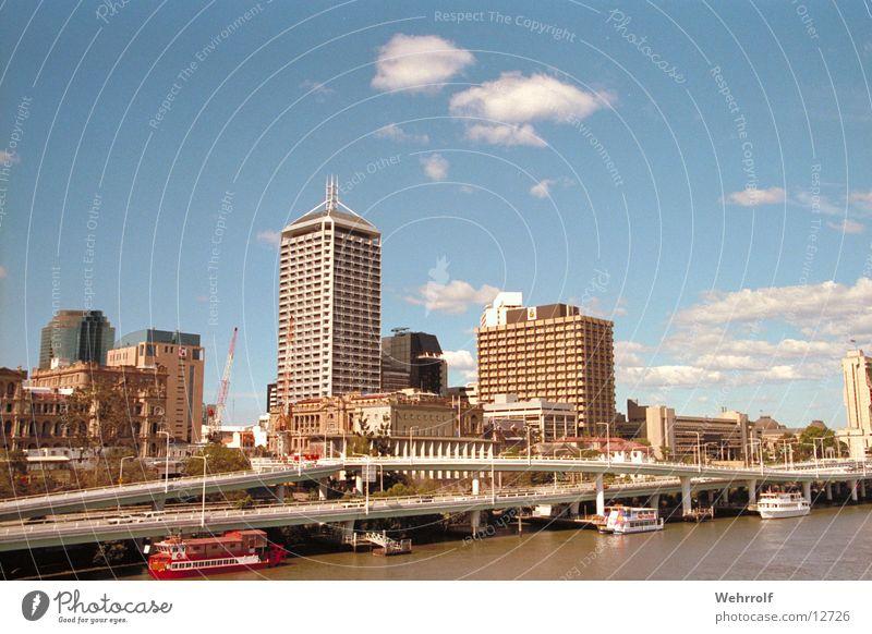 Melbourn Downtown Stadt Wasserfahrzeug Skyline Stadtzentrum Australien Melbourne