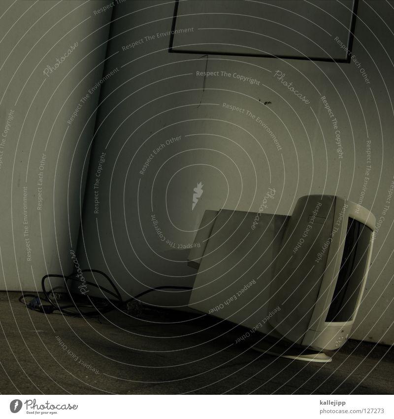 keine arbeit Straße Arbeit & Erwerbstätigkeit Computer dreckig kaputt Ecke Kabel Technik & Technologie Bildung Beruf Müll Dienstleistungsgewerbe Bildschirm