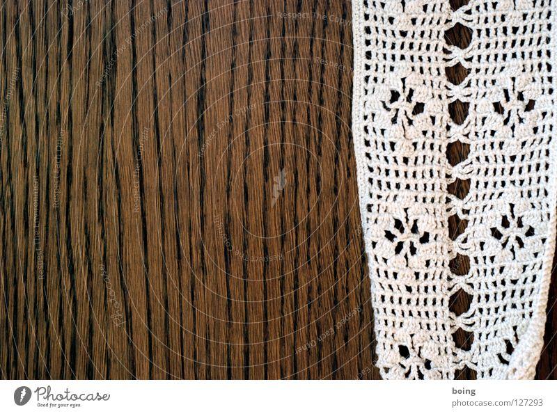 Nichtdenbodenberühr-Plattform Tisch Vertrauen Spitze Möbel Handwerk Wohnzimmer Vorhang gemütlich Decke Schal Maserung Kastanienbaum Schlaufe Eiche Baumwolle
