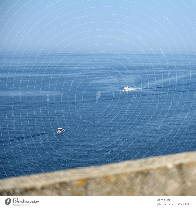 ins Blaue fahren Ferien & Urlaub & Reisen Tourismus Ausflug Ferne Freiheit Sommer Sommerurlaub Sonne Umwelt Natur Urelemente Wasser Himmel Klima Wellen Küste