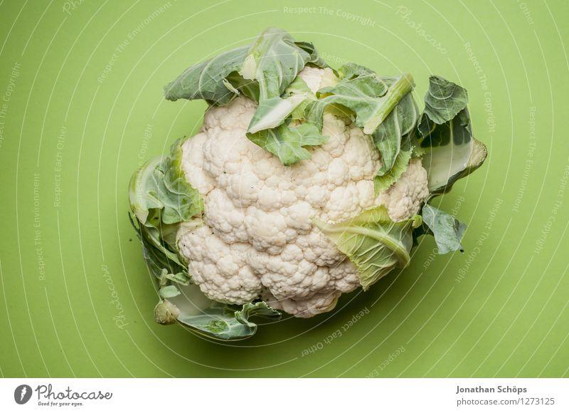 Der Blumenkohl grün weiß Gesunde Ernährung Blatt Foodfotografie Gesundheit Lebensmittel ästhetisch Kochen & Garen & Backen rund Gemüse lecker Bioprodukte