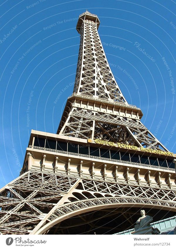 Eifeltower Las Vegas Architektur Tour d'Eiffel Las Vegas