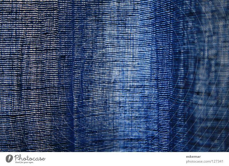 Wildseide blau Seide Stoff Gardine Textilien abstrakt Hintergrundbild Strukturen & Formen hängen Vorhang Material Wohnzimmer Schlafzimmer Glätte Wohnung Faser