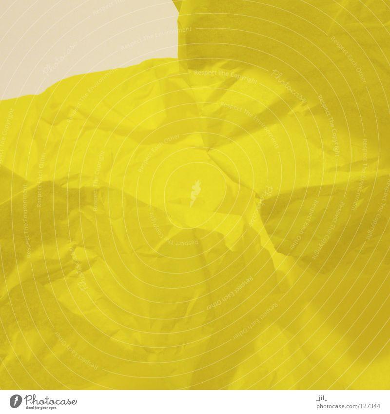 landschaft Sommer Freude gelb Farbe Glück Landschaft Stimmung Papier Sehnsucht Gedanke Vorfreude reduzieren Seidenpapier