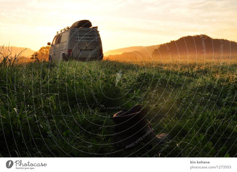 morgenluft Natur Ferien & Urlaub & Reisen grün Sommer Erholung Einsamkeit Landschaft ruhig Ferne gelb Herbst Gras Feld Freizeit & Hobby Tourismus frei