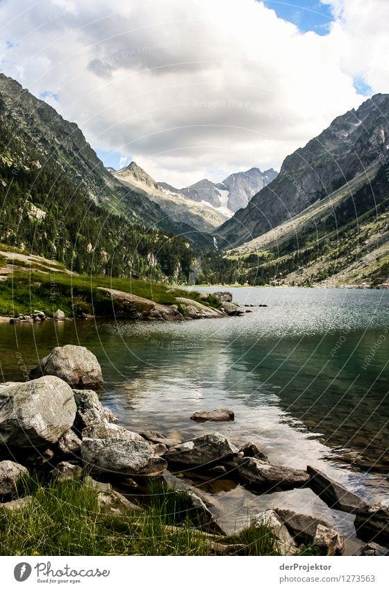 Pyrenäen-Wanderweg 15 Natur Ferien & Urlaub & Reisen Pflanze Sommer Landschaft Wolken Freude Tier Ferne Berge u. Gebirge Umwelt Gefühle Freiheit See Felsen