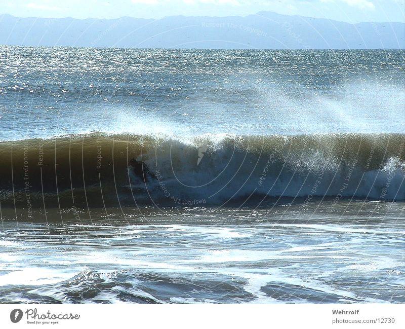 Surfer in Welle Wasser Meer Strand Wellen USA Kalifornien San Diego County