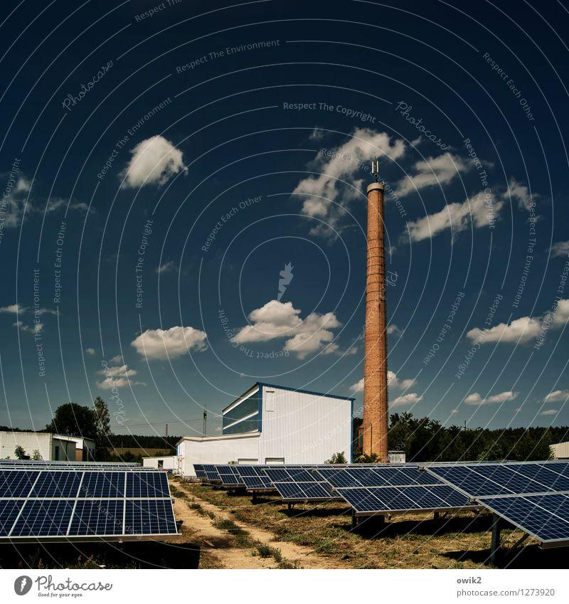 Solar Technik & Technologie Energiewirtschaft Erneuerbare Energie Sonnenenergie Solarzelle Umwelt Himmel Wolken Horizont Sonnenlicht Klima Klimawandel