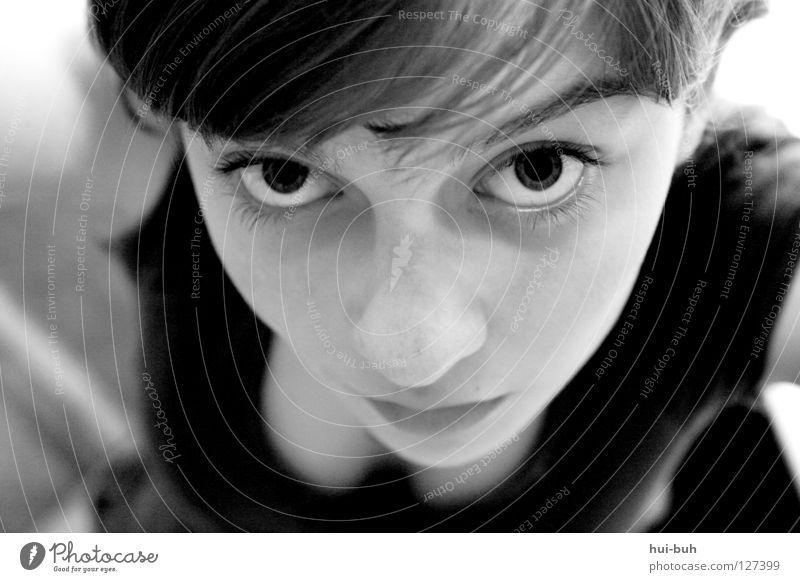 Pfui Frau Jugendliche Hand Gesicht Erwachsene Haare & Frisuren Vogel Arme Nase verrückt süß zart Schminke Friseur Langeweile Zopf