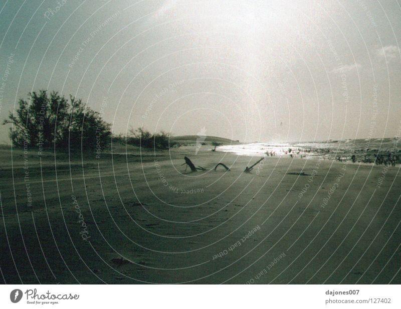 Äquatorial Sonnenuntergang Küste Brasilien Meer Stillleben Ödland ruhig Strand Sand Nordküste