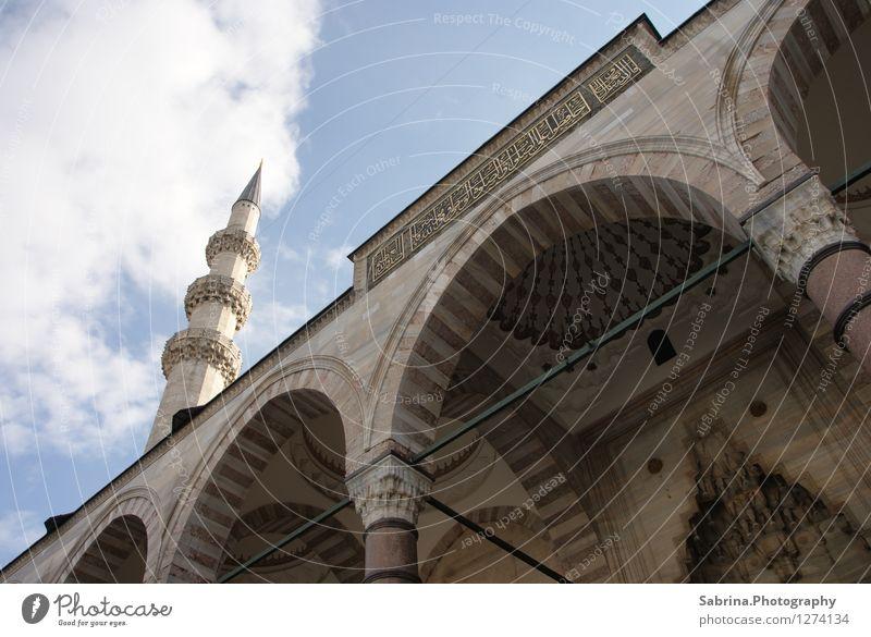 Der Blick zu Gott (Allah) Kultur Wolken Sonne Winter Istanbul Türkei Europa Hauptstadt Altstadt Kirche entdecken Ferien & Urlaub & Reisen ästhetisch achtsam