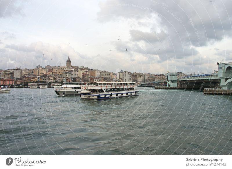 Fabulous Istanbul Ferien & Urlaub & Reisen Wasser Meer Erholung Wolken Winter Umwelt Liebe Küste träumen Zufriedenheit Tourismus Luft Ausflug Abenteuer Turm