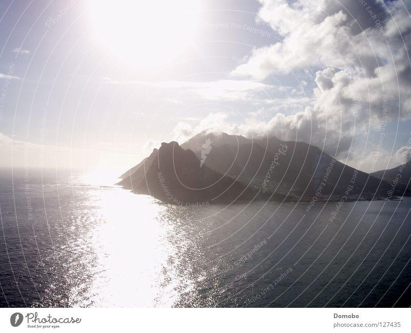 Cape Town Sonne Meer Wolken See Insel Afrika Südafrika Kapstadt