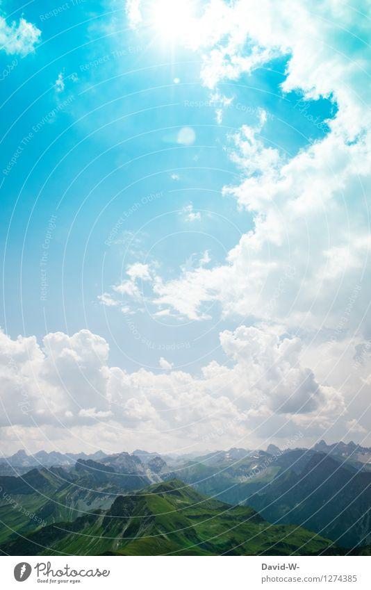 Wetter spielt mit Ferien & Urlaub & Reisen Ausflug Abenteuer Ferne Freiheit Sommer Sommerurlaub Sonne Berge u. Gebirge wandern Umwelt Natur Landschaft Luft