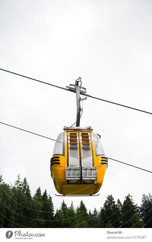 aufwärts Ferien & Urlaub & Reisen Tourismus Ausflug Abenteuer Ferne Freiheit Sommer Sommerurlaub Berge u. Gebirge wandern Maschine Technik & Technologie