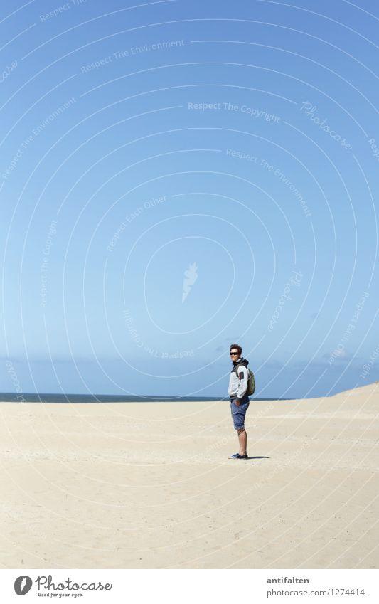 ... genau mein Tag! Mensch Himmel Natur Ferien & Urlaub & Reisen Mann blau Sommer Wasser Sonne Meer Ferne Strand Erwachsene natürlich Küste Freiheit
