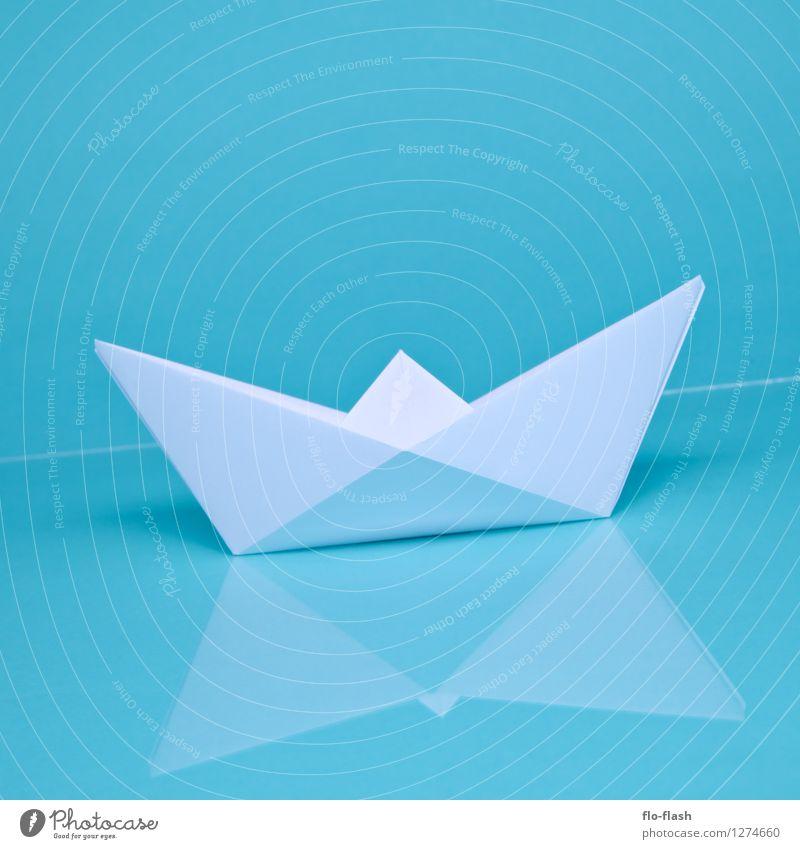 OH SHIP II // ORIGAMI blau Sommer weiß Stil Schwimmen & Baden Kunst Design Freizeit & Hobby elegant ästhetisch Papier retro Fernweh trendy türkis Sommerurlaub