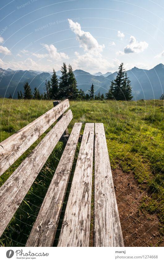 Schieb nicht immer alles auf die lange Bank! Erholung Ferien & Urlaub & Reisen Tourismus Ausflug Abenteuer Freiheit Berge u. Gebirge wandern Natur Landschaft