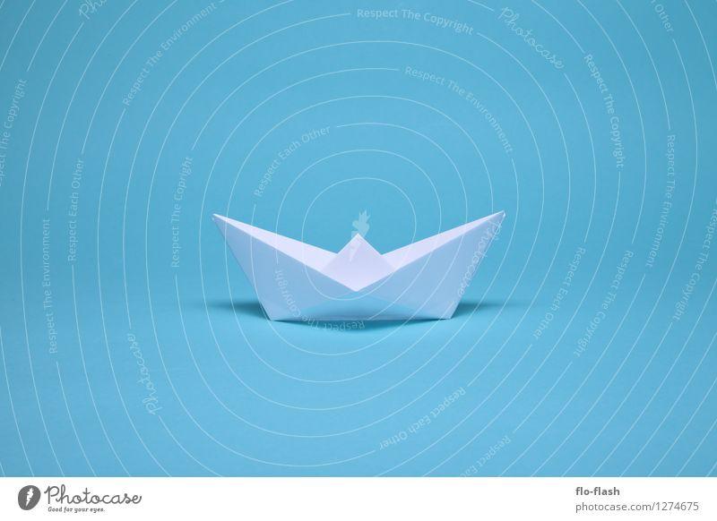 SCHÖNE FALTEN III // ORIGAMI blau weiß Stil Schwimmen & Baden Kunst Design elegant ästhetisch Papier retro Fernweh trendy türkis eckig Skulptur Kunstwerk