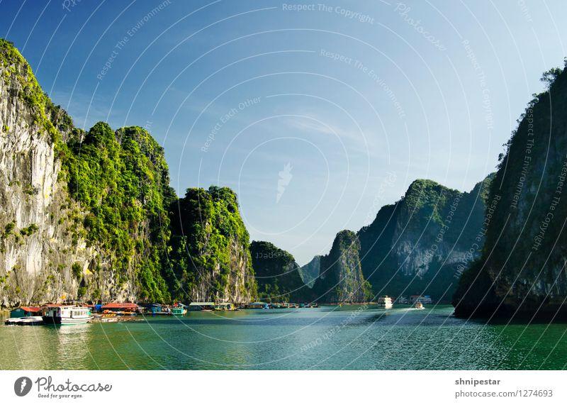 Halong Bay, Vietnam Leben Ferien & Urlaub & Reisen Tourismus Ausflug Abenteuer Ferne Sightseeing Expedition Sommer Insel Berge u. Gebirge Rundreise Vietnamesen