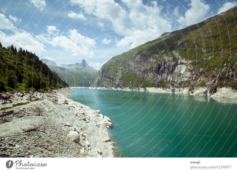 Abkühlung Umwelt Natur Landschaft Sommer Schönes Wetter Alpen Berge u. Gebirge Seeufer Stausee nachhaltig natürlich Farbfoto Außenaufnahme Menschenleer Tag
