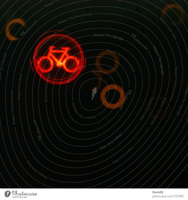 I don't like the red bike. rot Fahrrad Straßenverkehr Verkehr Sicherheit Technik & Technologie stoppen Ampel Halt Gesetze und Verordnungen graphisch Piktogramm