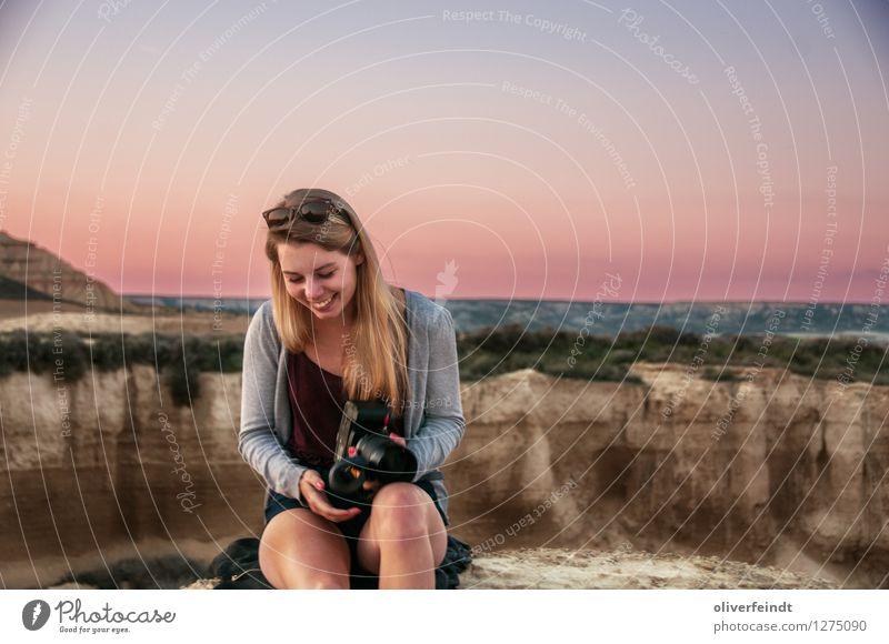 Spanien - Bardenas Reales Ferien & Urlaub & Reisen Ausflug Abenteuer Ferne Freiheit Expedition Mensch feminin Junge Frau Jugendliche 1 18-30 Jahre Erwachsene