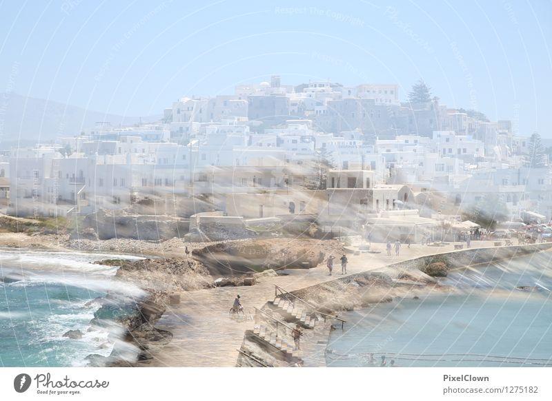 Naxos Lifestyle Stil harmonisch ruhig Ferien & Urlaub & Reisen Tourismus Sightseeing Städtereise Sommerurlaub Strand Meer Insel Wasser Himmel Hafenstadt Haus