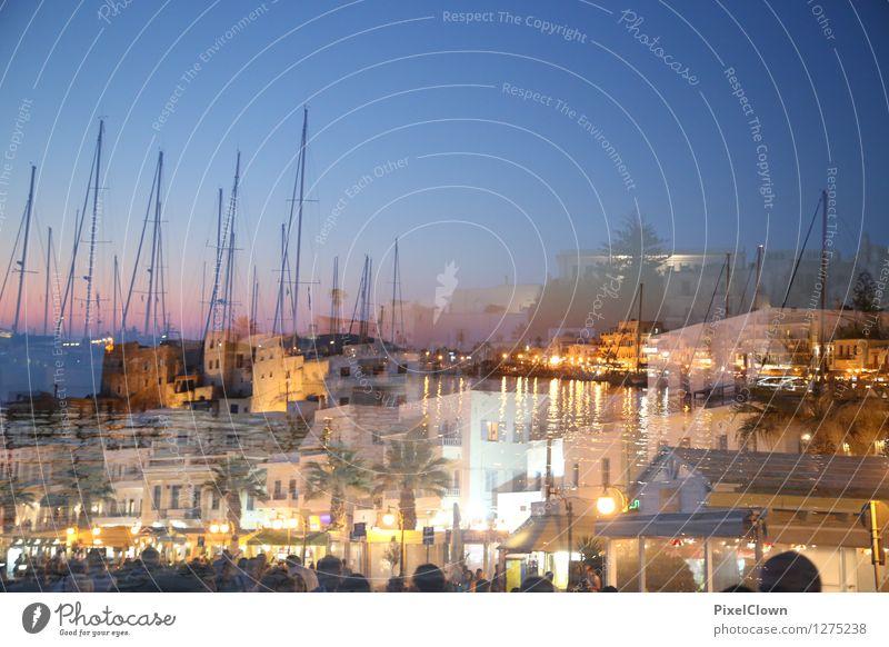 Nightlife am Hafen Ferien & Urlaub & Reisen Stadt blau Wasser Meer Leben Architektur Lifestyle Stimmung orange träumen Tourismus Insel Restaurant