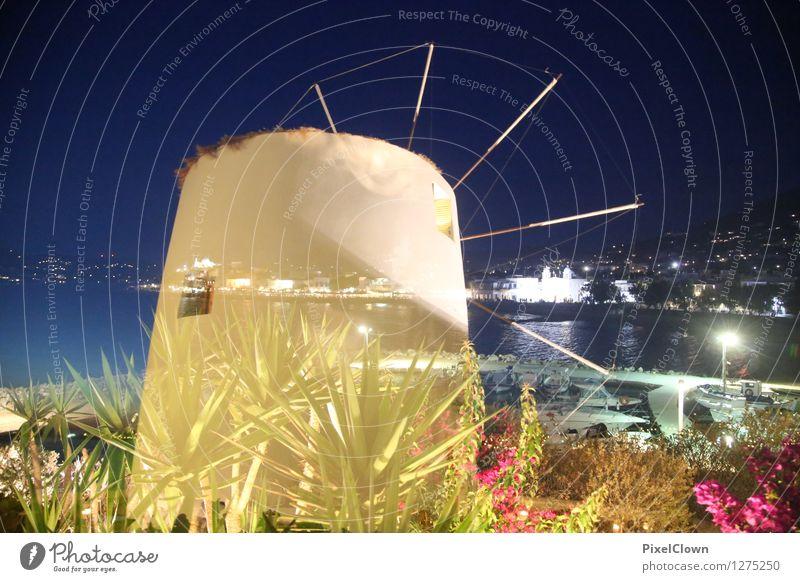 Paros by night Ferien & Urlaub & Reisen Meer Landschaft Strand Architektur Gefühle Stil Lifestyle Horizont glänzend träumen Zufriedenheit Tourismus ästhetisch