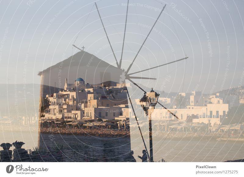 Paros Ferien & Urlaub & Reisen blau Meer Landschaft Strand Architektur Gefühle Stil grau Lifestyle träumen Design Tourismus Insel Bauwerk harmonisch