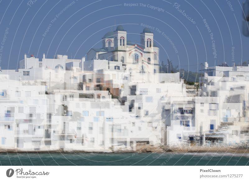 Griechische Inseln Ferien & Urlaub & Reisen blau Sommer Wasser weiß Sonne Meer Landschaft Strand Architektur Gefühle Stil Gebäude außergewöhnlich Lifestyle